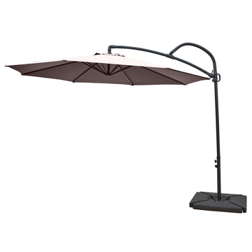 LG Outdoor Palm 3m Round Cantilever Garden Parasol - Taupe