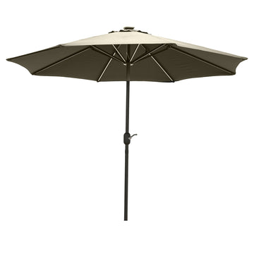 LG Outdoor Jasmine Solar-Powered 2.7m Light-Up Garden Parasol - Cream DIS