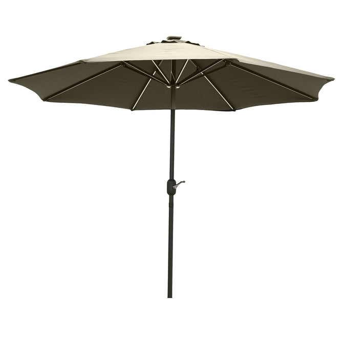 LG Outdoor Jasmine Solar-Powered 2.7m Light-Up Garden Parasol - Cream