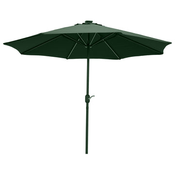 LG Outdoor Jasmine Solar-Powered 2.7m Light-Up Garden Parasol - Forest Green