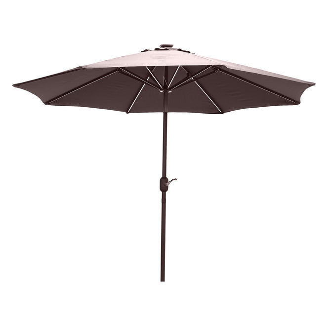 LG Outdoor Jasmine Solar-Powered 2.7m Light-Up Garden Parasol - Taupe