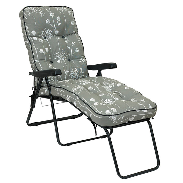 Bracken Outdoors Deluxe Renaissance Grey Lounger Garden Chair