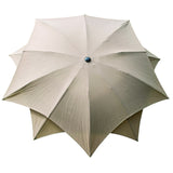 Bracken Outdoors Lotus Fibreglass Garden Parasol 2.7m - Taupe