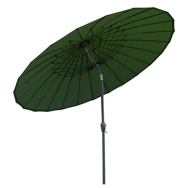 LeisureGrow Mikado 2.5m Garden Parasol - Forest Green