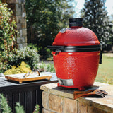 Kamado Joe Classic II Stand Alone Red Ceramic Charcoal BBQ Grill
