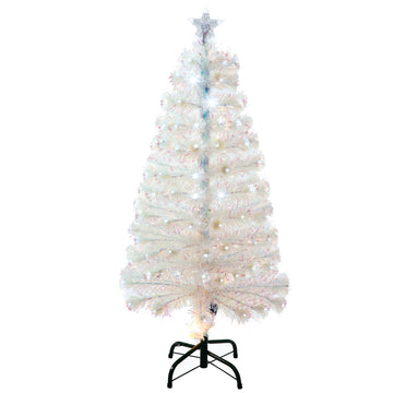 Fibre Optic Christmas Tree Crystal White LED Pine by Noma