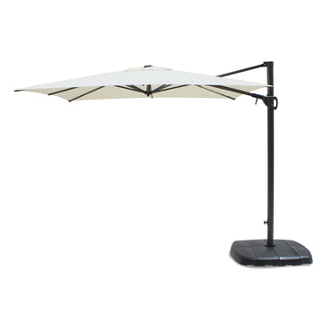 Kettler 2.5m Square Free Arm Cantilever Parasol with Base Natural