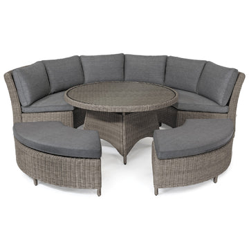 Kettler Palma Casual Dining Rattan Round Outdoor Sofa Set
