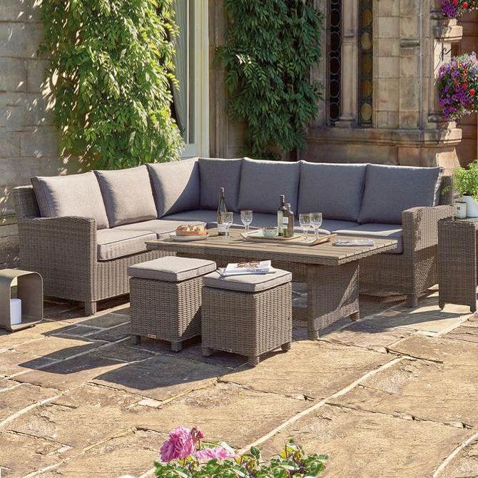 Kettler Palma Corner Right Hand Rattan Outdoor Sofa Set with Coffee Table