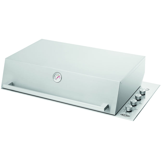 BeefEater Proline Stainless Steel Series 6 Burner Build In Gas Barbecue - Roaster Hood
