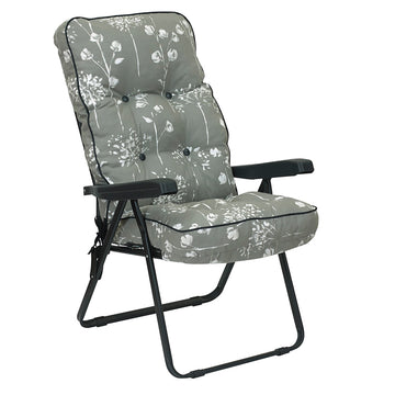 Bracken Outdoors Deluxe Renaissance Grey Recliner Garden Chair