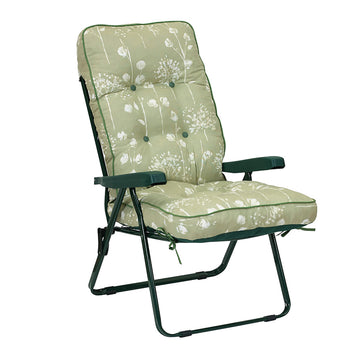 Bracken Outdoors Deluxe Renaissance Sage Recliner Garden Chair