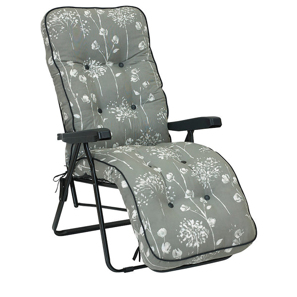 Bracken Outdoors Deluxe Renaissance Grey Relaxer Garden Chair