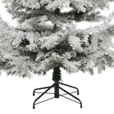 Artificial Snowy Christmas Tree Siberian Fir 7ft Flocked by Noma