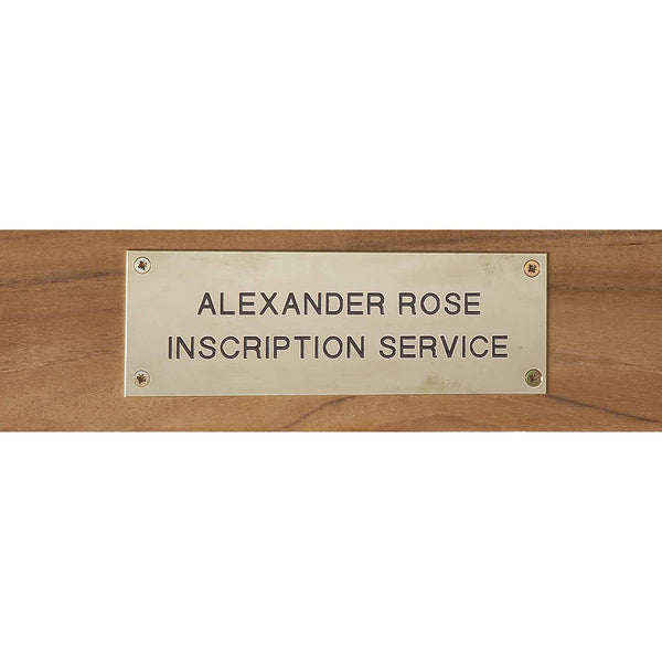 Alexander Rose Stainless Steel Engraving Plate