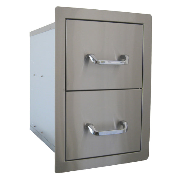Beefeater Stainless Steel Build-in Outdoor Kitchen Double Drawer Unit