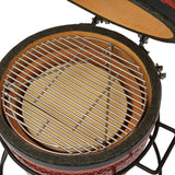 Kamado Joe Joe Junior Red Ceramic Charcoal BBQ Grill