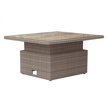 Robert Charles Tennessee Adjustable Square Rattan Dining Table