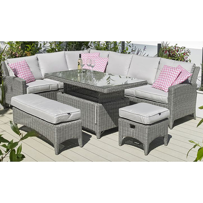 Harbo Valencia L Shaped Corner Casual Dining Sofa Set