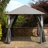 Bracken Outdoors Vintage Grey Square Garden Gazebo 2.5m x 2.5m