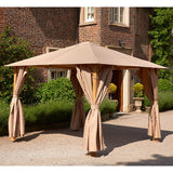 Bracken Outdoors Wood Effect Heavy Duty Square Garden Gazebo 3 x 3m