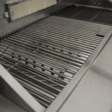 Draco Grills Z650 6 Burner Stainless Steel Gas Barbecue with Cabinet and Side Burner