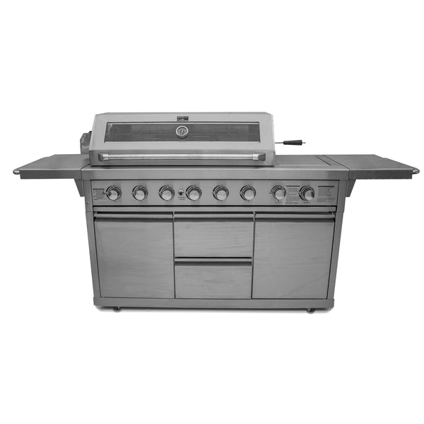 Barbecue Chef Z650 6 Burner Stainless Steel Gas Barbecue with Cabinet and Side Burner