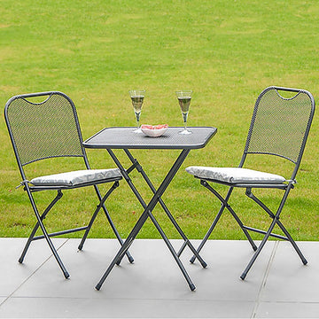 Alexander Rose Portofino Tea For Two Folding Set with Cushions