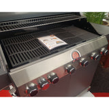 Grillstream Classic 6 Burner Hybrid Gas and Charcoal Barbecue - Matt Grey