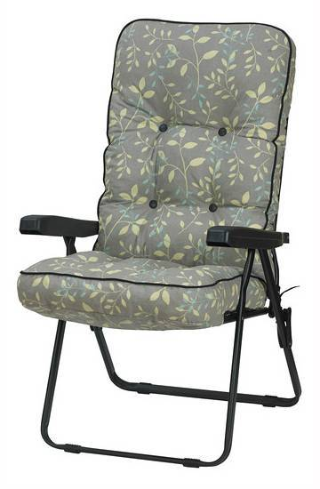 Bracken Outdoors Deluxe Country Teal Recliner Garden Chair