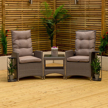 Bracken Outdoors Dakota Duo Recliner Chair Set with Side Table