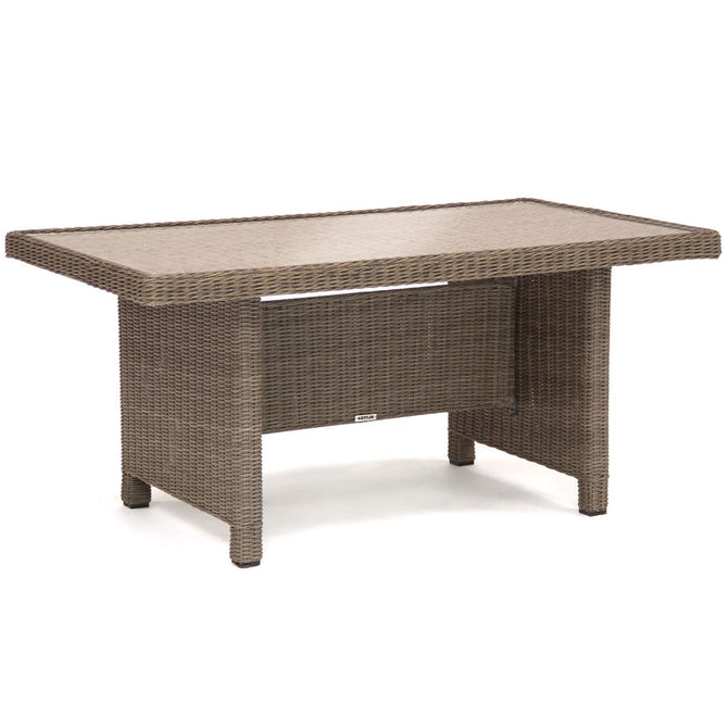 Kettler Palma Rattan Casual Dining Glass Top Table
