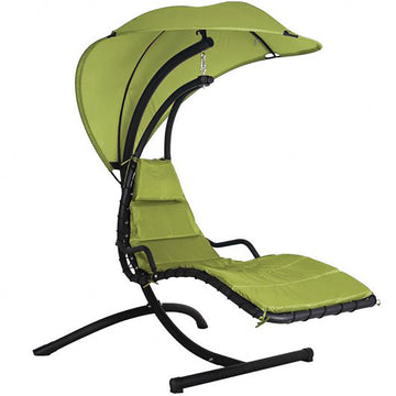 Bracken Outdoors Helicopter Swing Seat Garden Chair with Canopy - Green