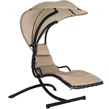 Bracken Outdoors Helicopter Swing Seat Garden Chair with Canopy - Taupe