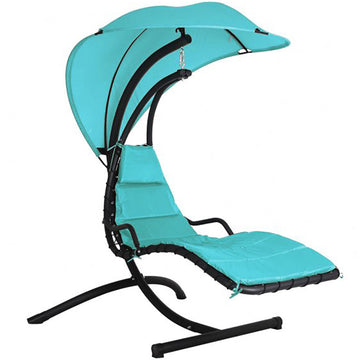 Bracken Outdoors Helicopter Swing Seat Garden Chair with Canopy - Turquoise