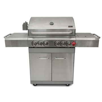 Barbecue Chef G500TS 4 Burner Stainless Steel Gas Barbecue with Cabinet and Side Burner