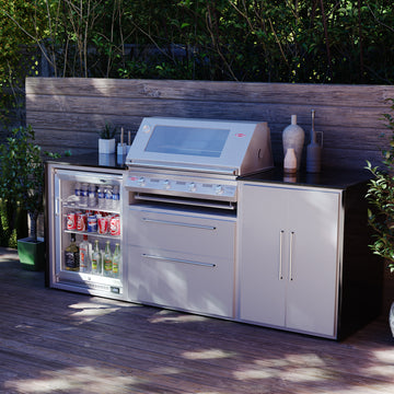 Profresco Signature S3000s 4 Burner Barbecue Trio Outdoor Kitchen - Silver Grey