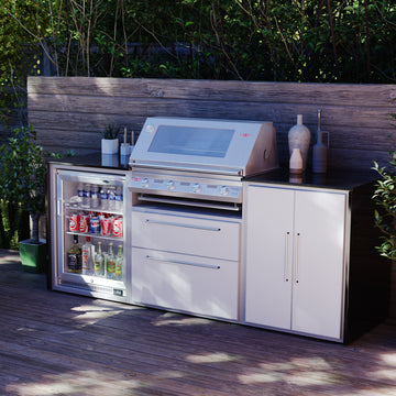 Profresco Signature S3000s 4 Burner Barbecue Trio Outdoor Kitchen - White