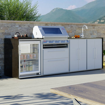 Profresco Signature S3000s 4 Burner Barbecue Quatro Outdoor Kitchen -White