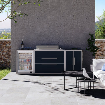 Profresco Proline Roaster 6 Burner Barbecue Trio Outdoor Kitchen - Anthracite