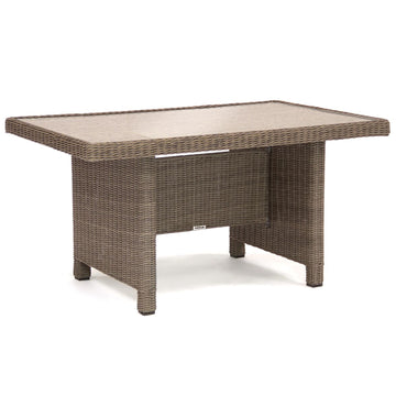 Kettler Palma Mini Casual Dining Glass Top Table Rattan