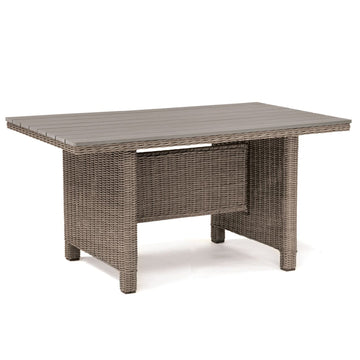 Kettler Palma Mini Casual Dining Slat Top Table Rattan