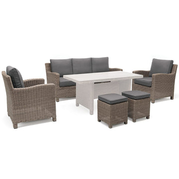Kettler Palma Rattan Outdoor Casual Dining Lounge Sofa Set