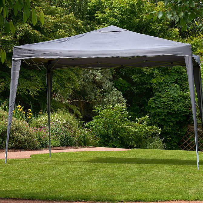 Bracken Outdoors Pop Up Garden Gazebo Grey 3 x 3m