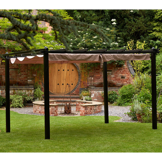 Bracken Outdoors Seville Garden Gazebo Mocha 3m x 3m