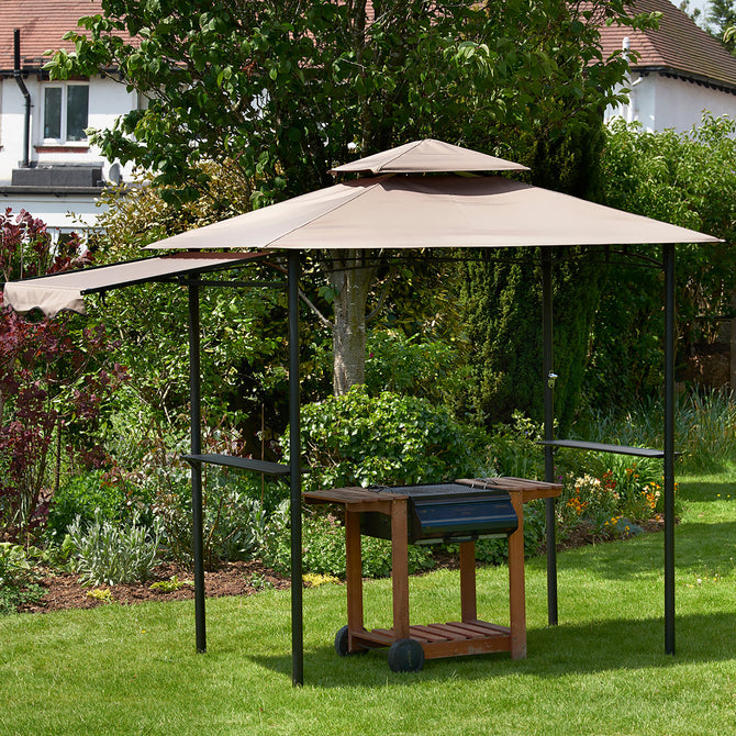 Bracken Outdoors BBQ Shelter Gazebo 2.45m