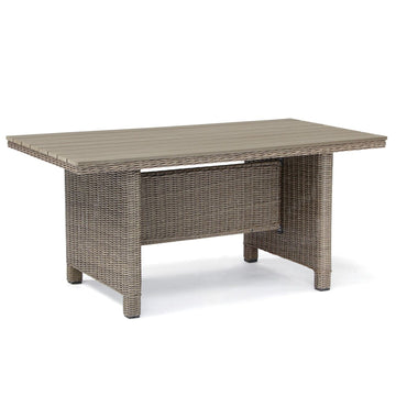 Kettler Palma Casual Dining Slat Top Table Rattan