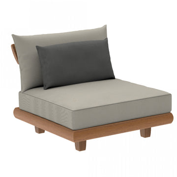 Alexander Rose Outdoor Sorrento Lounge Middle Modular Chair with Cushion