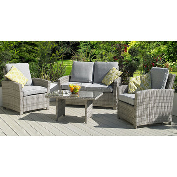 Harbo Trieste 4 Piece Weave Lounge Garden Furniture Set