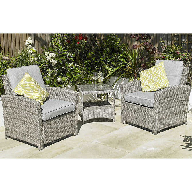 Harbo Trieste 2 Seat Weave Lounge Garden Bistro Furniture Set